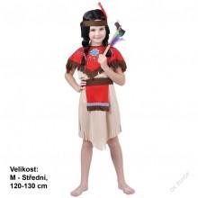 Dětský karnevalový kostým INDIÁNKA POCAHONTAS 120 - 130cm ( 5 - 9 let )